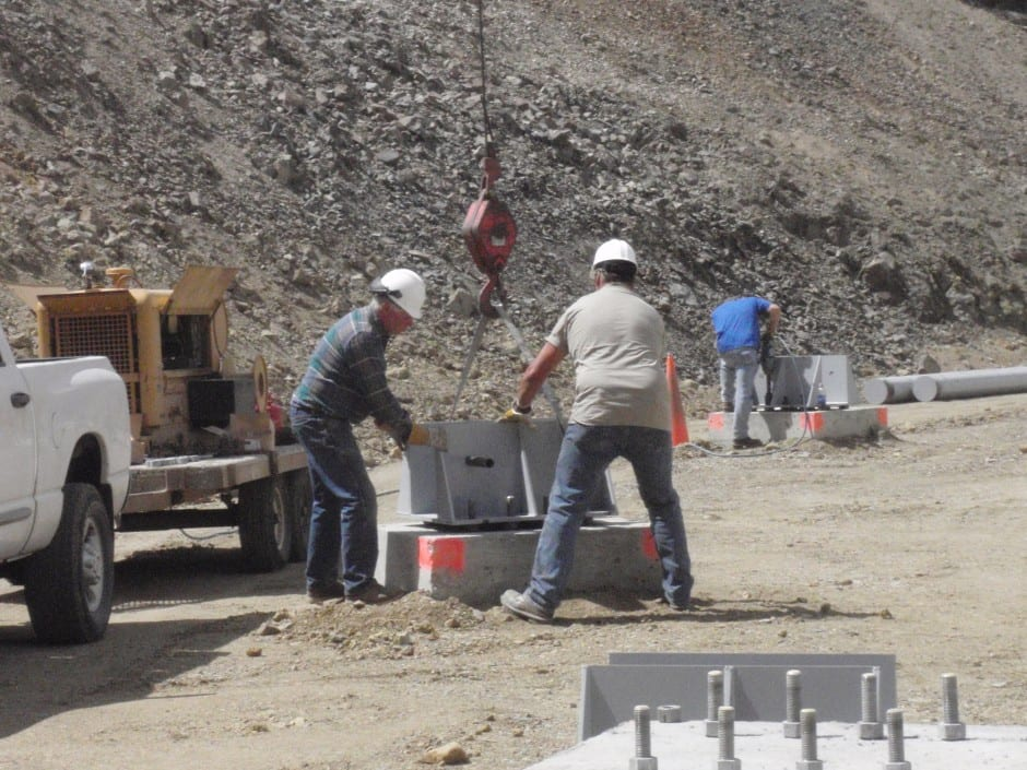 installation at mine for dust control