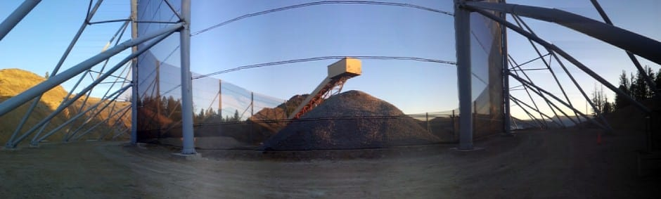 Conical style dust fencing