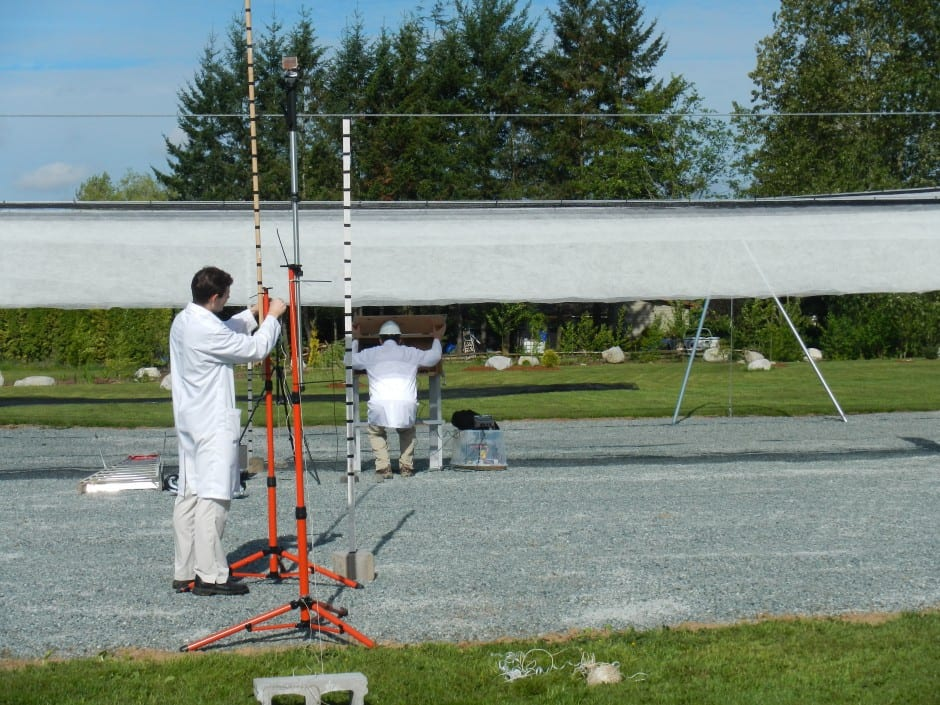 testing hail canopy weathersolve structures