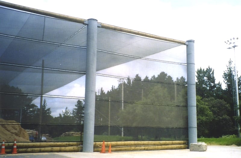 Enclosure style dust control - 0m (260ft) x 130m (430ft) x 10m (30ft) enclosure style dust solution