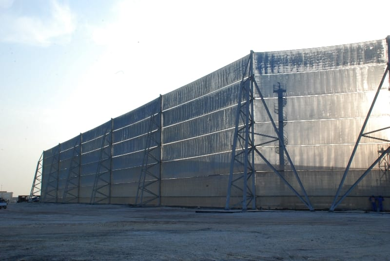large dust fencing