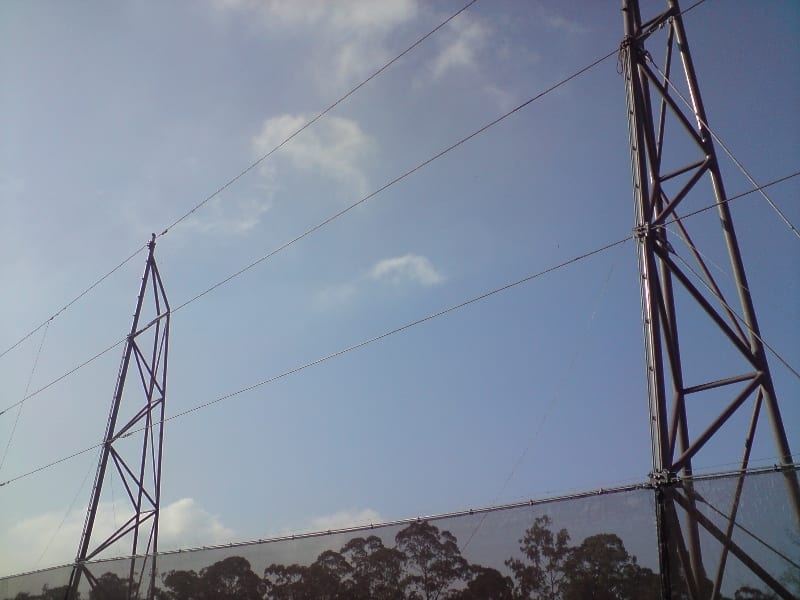 Fabric installation - Fabric installation of a wind fence 30 m (100 ft) x 2500 m (8200 ft)
