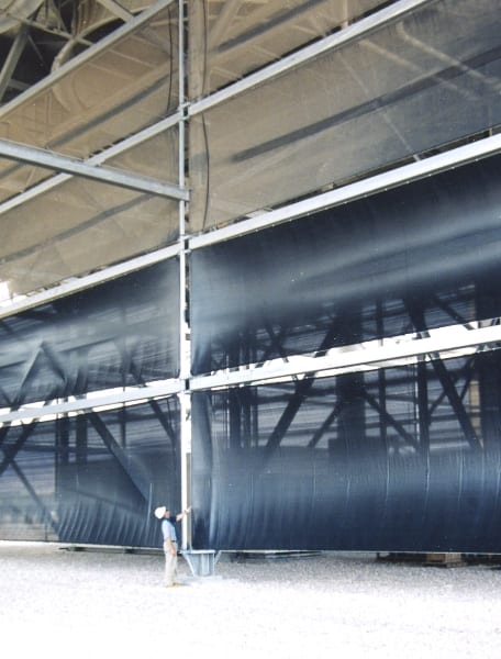 Cladding style dust control for cooling tower - 13m (40ft) x 110m (360ft) Cladding style dust solution