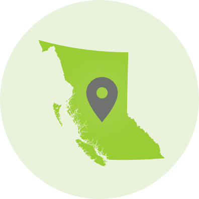 map of BC