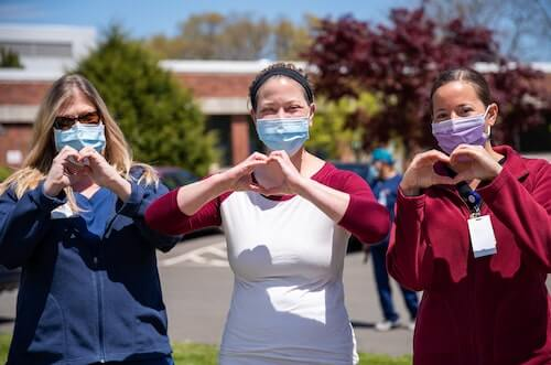 Healthcare industry image of three healthcare workers