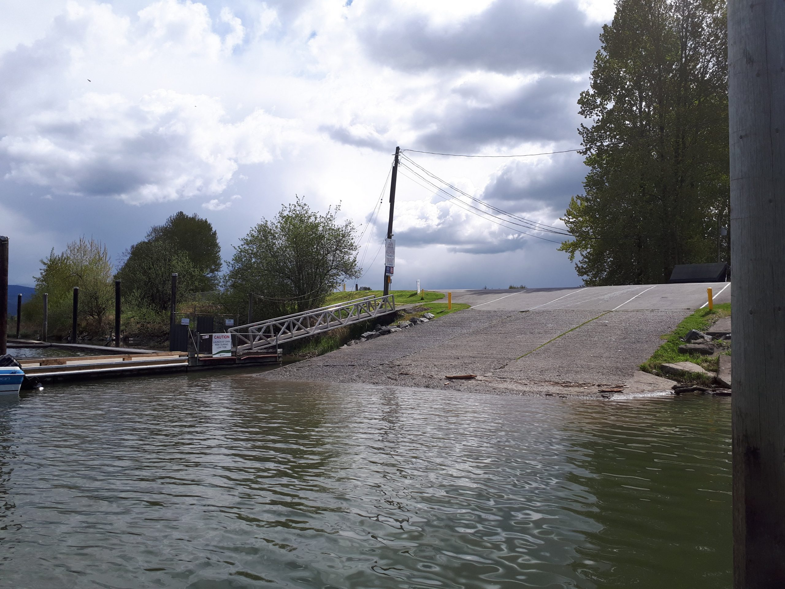Boat launch at the Pitt Meadows Marina