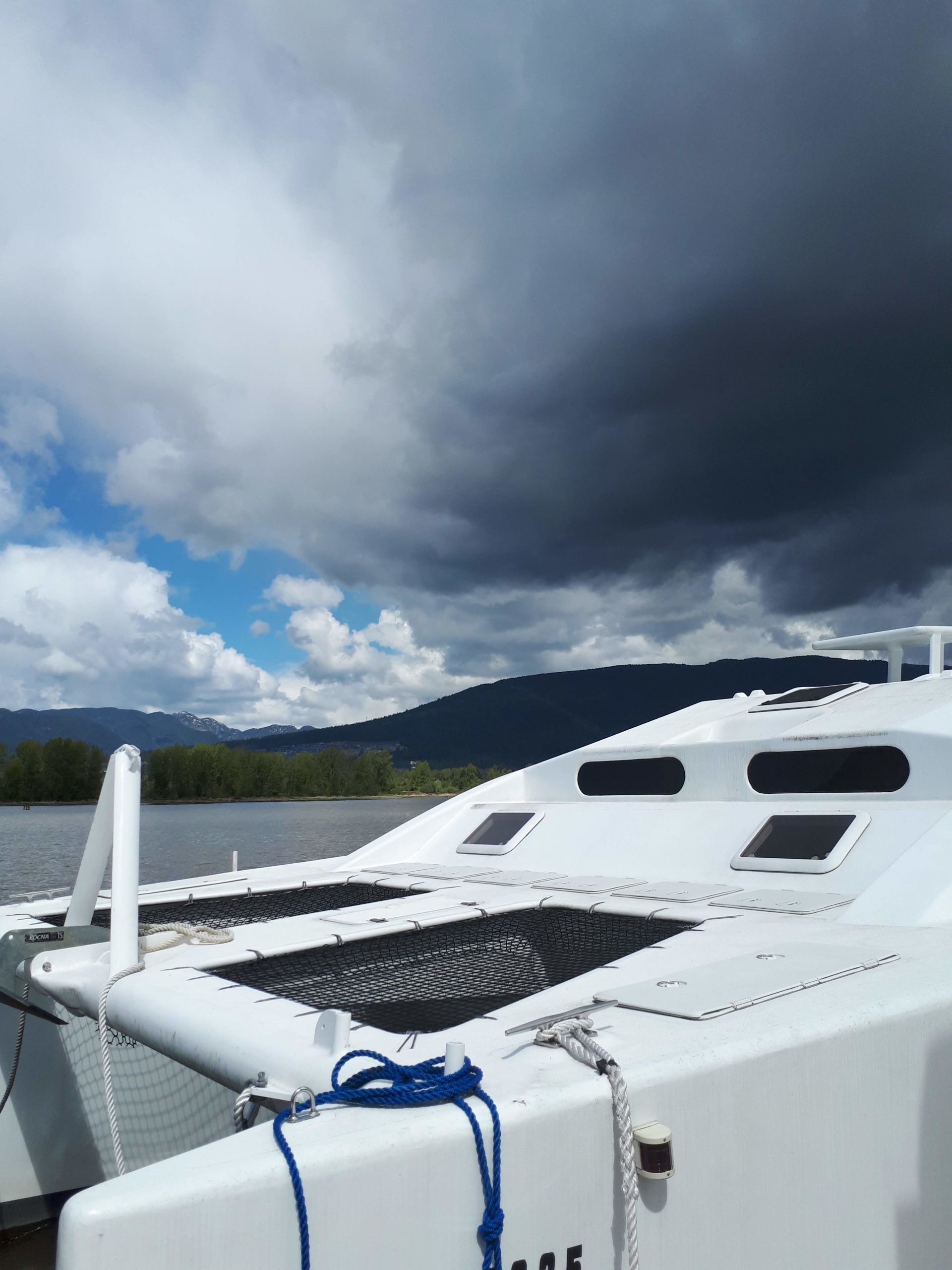 One of the many boats at dock at the Pitt Meadows Marina